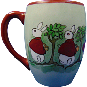 "Tressemann & Vogt (T&V) Limoges Arts & Crafts ""Peter Rabbit"" Motif Mug/Cup (Signed ""For Junior. A Merry Xmas, From Aunt Zula 1915"") - Keramic Studio Design"