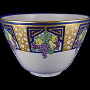 Lenox Belleek Arts & Crafts Enameled Fruit Motif Bowl (c.1906-1924)