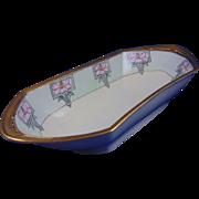 "Moritz Zdekauer (MZ) Austria Arts & Crafts Floral Design Tray/Serving Dish (Signed ""Erla Pryor""/Dated 1919) - Keramic Studio Design"