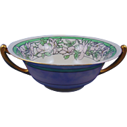 Lenox Belleek Arts & Crafts Dogwood Design Handled Centerpiece Bowl (c.1906-1924)