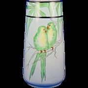 PH Leonard Austria Arts & Crafts Parrot Motif Vase (c.1900-1930)