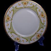 Bawo & Dotter Elite Limoges Floral/Nasturtium Design Plate (c.1900-1932)
