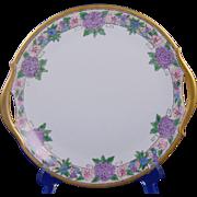 "Paul Muller (PM) Bavaria Arts & Crafts Floral Design Handled Plate (Signed ""Emma Day""/Dated 1929)"