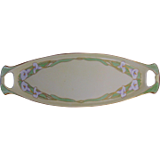 """Vignaud Limoges Arts & Crafts Calla Lily Handled Tray (Signed """"M.F.D.""""/Dated 1914)"""