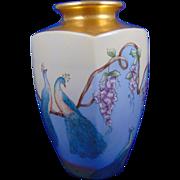 "Arts & Crafts Peacock Design Vase (Signed ""Amy Tyler""/c.1910-1930)"