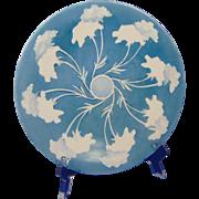 Jean Pouyat (JP) Limoges Blue Floral Plate (c.1900-1930)