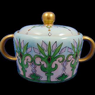 Porcelain Blank Arts & Crafts Geometric Design Trinket Dish (c.1900-1930)