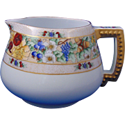 "Royal Bavaria Arts & Crafts Fruit Motif Cider/Lemonade Pitcher (Signed ""A. Faurote""/Dated 1914)"