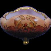Moritz Zdekauer (MZ) Altrolau CMR Czechoslovakia Arts & Crafts Squirrels & Acorns Motif Footed Bowl (c.1918-1936)