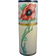 "Bernardaud & Co. (B&Co.) Limoges Arts & Crafts Poppy Motif Vase (Signed ""M.H.T.""/c.1914-1930)"