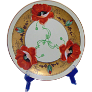 "Edward W. Donath Studio Haviland Limoges Poppy Design Plate (Signed ""Kitt"" for Joseph R. Kittler/c.1906-1928)"