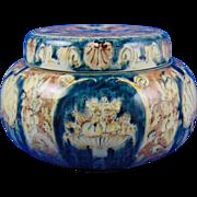 Rozenburg Den Haag Pottery Art Nouveau Classic Venetian Design Covered Dish (c.1890-1914)