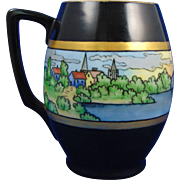"Rosenthal Bavaria Arts & Crafts Scenic Village Motif Tankard/Mug (Signed ""A.L.W.""/Dated 1909)"