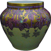 Large William Guerin & Co. (WG&Co.) Limoges Arts & Crafts Lustre Vine & Berry Motif Jardinière/Vase (c.1900-1932)