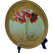 Thomas Bavaria Poppy & Daisy Design Charger/Plate (c.1910-1930)