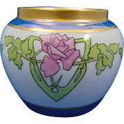 "Epiag Czechoslovakia Arts & Crafts Rose Motif Vase (Signed ""M.F.G. from A.D.W""/Dated ""Easter 1926"")"