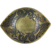 Uno Favorite Bavaria Arts & Crafts Sea Serpent Bowl (c.1910-1930)