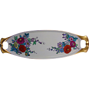Reinhold Schlegelmilch (RS) Germany Arts & Crafts Floral Motif Tray (Signed Quoting Psalms/C. 1904-1930)