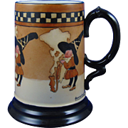"Moritz Zdekauer (MZ) Austria Arts & Crafts Elf/Gnome Motif Tankard/Mug (Signed ""Genevieve Burnett""/Dated 1916) - Keramic Studio Design"