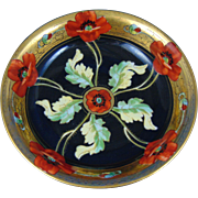 "Pitkin & Brooks Tressemann & Vogt (T&V) Limoges Poppy Design Bowl (Signed ""F.M.""/c.1903-1910)"