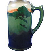 Ceramic Art Company (CAC)/Lenox Belleek Arts & Crafts Landscape Design Tankard (c.1889-1906)