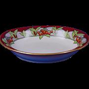 """Delinieres & Co. (D&Co.) Limoges Arts & Crafts """"Mountain Ash"""" Design Serving Bowl (Signed """"V. Tickmor""""/c.1905-1930) - Keramic Studio Design"""