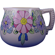 "Lenox Belleek Arts & Crafts Enameled Floral Motif Cider/Lemonade Pitcher (Signed ""E.L.F.""/Dated 1921)"