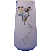 "Lenox Belleek Arts & Crafts Bird Motif Vase (Signed ""N.S.W.""/c.1906-1924)"