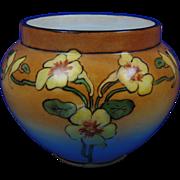 """William Guerin & Co. (WG&Co.) Limoges Arts & Crafts Nasturtium Design Vase (Signed """"C. Wunn""""/c.1902-1935) - Keramic Studio Design"""