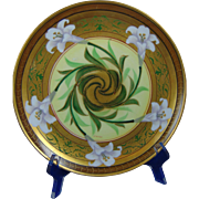 "Pickard Studios Haviland Limoges Easter Lily Design Plate (Signed ""Shoner"" for Otto Schoner/c. 1905-1910)"