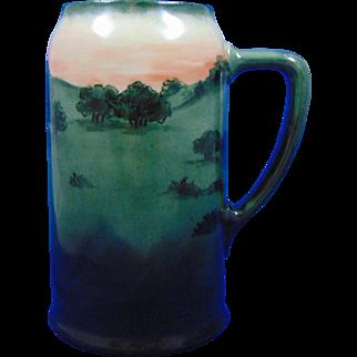Porcelain Blank Arts & Crafts Landscape Motif Tankard/Mug (c.1910-1930)