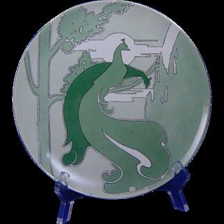 Haviland Limoges Arts & Crafts Peacock Design Plate (c.1908-1930) - Keramic Studio Design