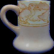 "Charles Martin Limoges Arts & Crafts Duck Design Mug/Cup (Signed ""Ra Hotchkiss""/c.1891-1930)"