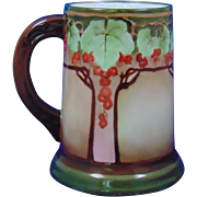 Tressemann & Vogt (T&V) Limoges Arts & Crafts Currant Design Tankard/Mug (c.1892-1920)