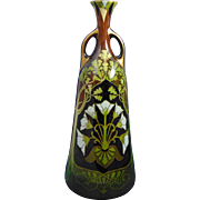Keller & Guerin Luneville France Art Nouveau Floral Design Vase (c.1899-1920)