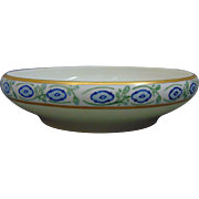 "Rosenthal Bavaria Arts & Crafts Blue Floral Motif Centerpiece Bowl (Signed ""S.B. Thomas - Decorator""/c.1907-1930)"
