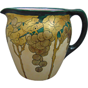 Jean Pouyat (JP) Limoges Arts & Crafts Gold Grape Design Pitcher (c.1903-1920)
