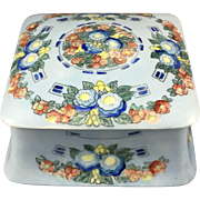 Uno Favorite Bavaria Arts & Crafts Floral Design Covered Box (c.1909-1930)