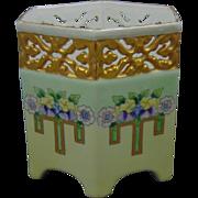 Bernardaud & Co. (B&Co.) Limoges Arts & Crafts Floral Motif Reticulated Vase (c.1910-1930) - Keramic Studio Design