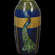 """Rosenthal Bavaria Arts & Crafts Peacock Design Vase (Signed """"Ruckle""""/c.1907-1930)"""