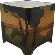 Bernardaud & Co. (B&Co.) Limoges Arts & Crafts Scenic Motif Planter/Vase (c.1900-1930)