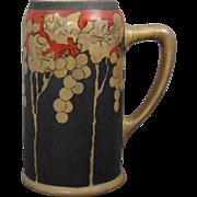 Tressemann & Vogt (T&V) Limoges Arts & Crafts Grape Design Tankard/Mug (c.1903-1930) - Keramic Studio Design