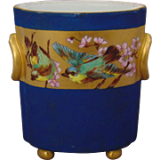 Heinrich & Co. (H&Co.) Selb Bavaria Arts & Crafts Bird & Floral Motif Vase/Cachepot (c.1900-1930)