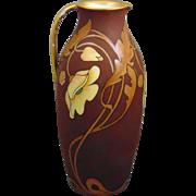 "Rosenthal Bavaria Art Nouveau Poppy Motif Pitcher/Ewer (Signed ""L. Smyth""/c.1901-1930)"