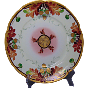 "Edward W. Donath Studios Jaeger & Co. Bavaria ""Oak Leaves & Acorns"" Design Plate (Signed ""Koenig"" for Carl Koenig/c.1910-1915)"