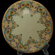 Charles Martin Limoges Arts & Crafts Floral Motif Charger/Plate (c.1891-1930)