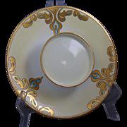 """Tressemann & Vogt (T&V) Limoges Arts & Crafts Caviar/Serving Dish (Signed """"Adelle C. Phelps""""/c.1900-1920)"""