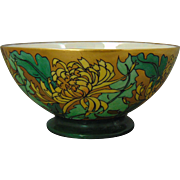 "Theodore Haviland Limoges Arts & Crafts Chrysanthemum Design Bowl (Signed ""Virginia Robertson Smith""/Dated ""May 1918"")"