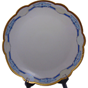 "Paroutaud Freres (P&P) Limoges Arts & Crafts ""Morning Glory"" Design Charger/Plate (c.1914-1930)"