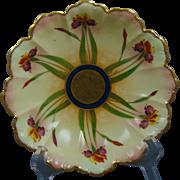 """Pickard Studios Haviland Limoges """"Iris Conventional"""" Design Bowl (Signed """"F. Lind"""" for Frederick J. Lindner/c.1898-1930)"""